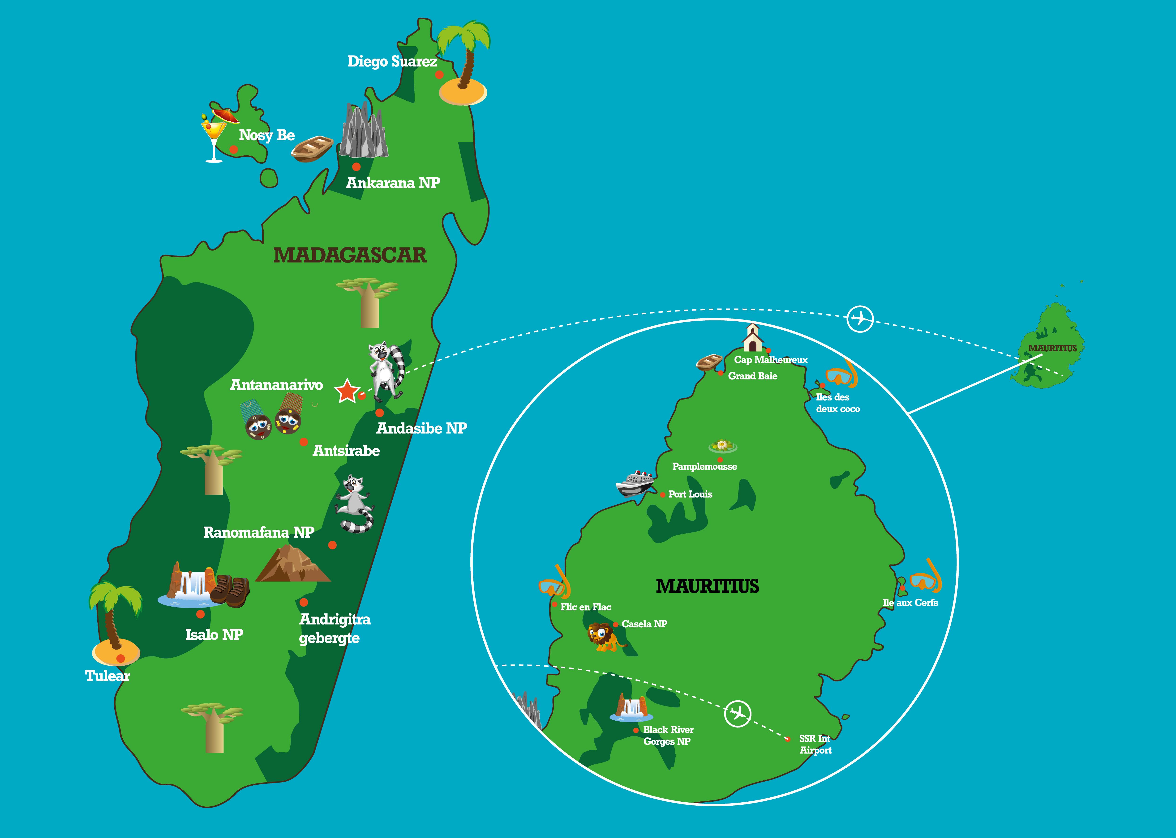 Mauritius vakantie - Rondreis & reizen naar Mauritius Afrika